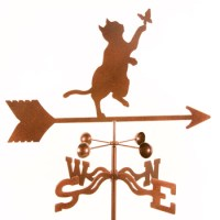 Cat and Butterfly Weathervane