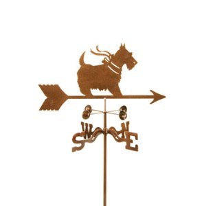 Scottie With Bow Weathervane