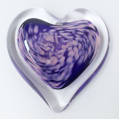 Parisian Nights Blown Glass Heart Paperweight
