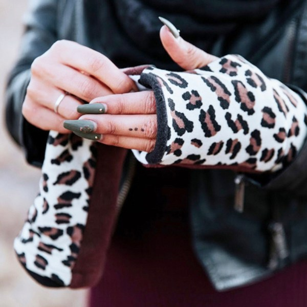 Turtle Gloves Cheetah Dalmatian Fingerless Gloves