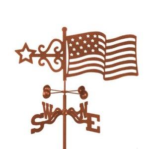 Flag Weather Vane