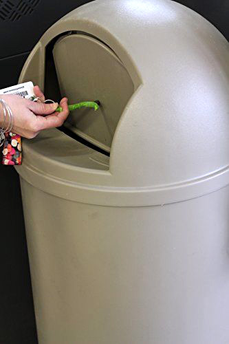 Use the Kooty Key to Push Open Trash Cans