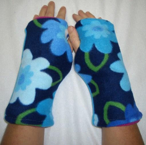 Garden Variety Reversible Fingerless Gloves