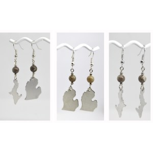 Michigan Petoskey Stone Dangle Earrings