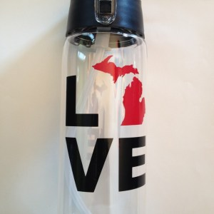 Love Michigan Water Bottle