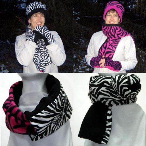 Zebra Stripes Reversible Scarves