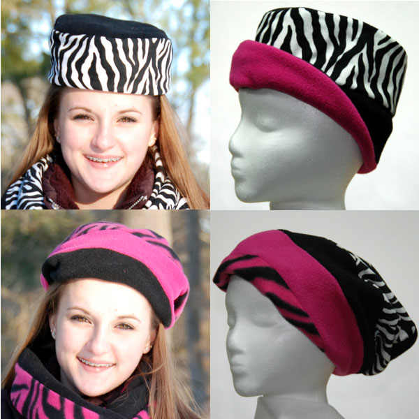 Zebra Print Reversible Hat