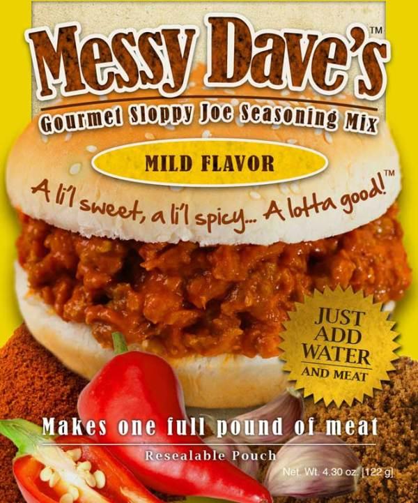 Messy Dave's Gourmet Sloppy Joe Seasoning Mix