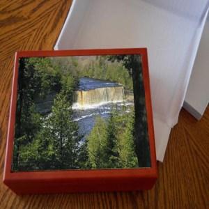 Scenic Michigan Photo Tile Keepsake Box