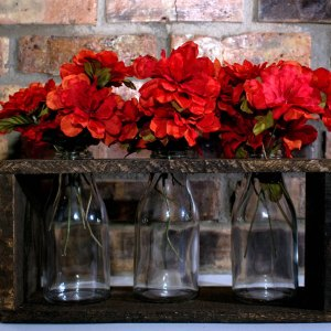 Rustic Milk Bottle Centerpiece