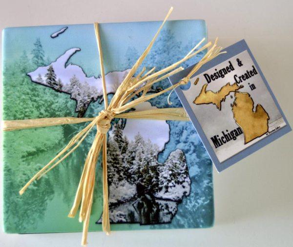 Bisque Sandstone Photo Coaster Set
