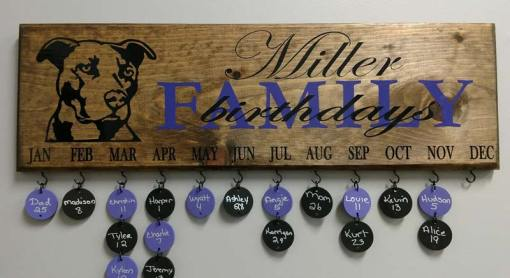 Family Celebration Board Custom Design