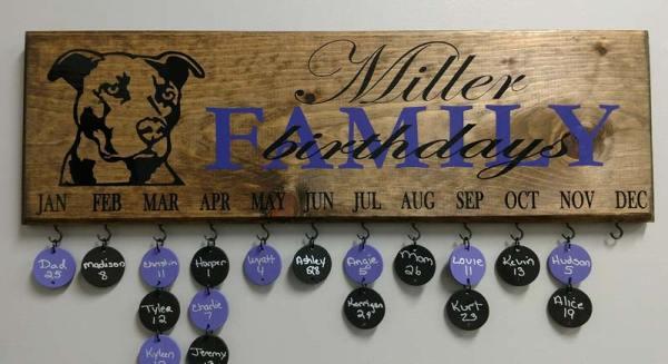 Family Celebration Board Custom Design