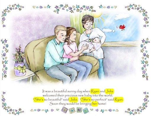 Personalized Caucasian Adoption Family Book