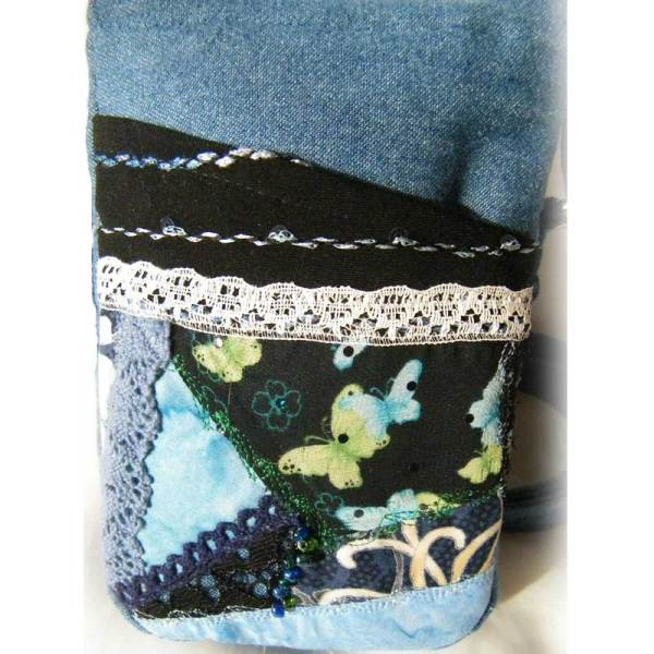 Quilted Denim Lace Purse