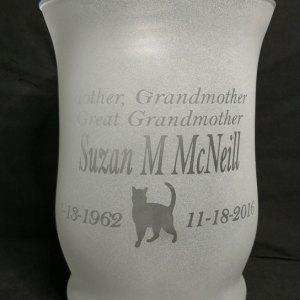 Engraved Wavy Vase