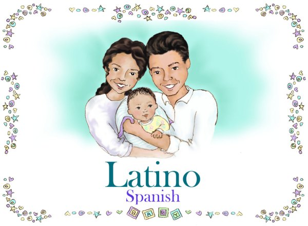 Personalized Latino Family Book Spanish Version