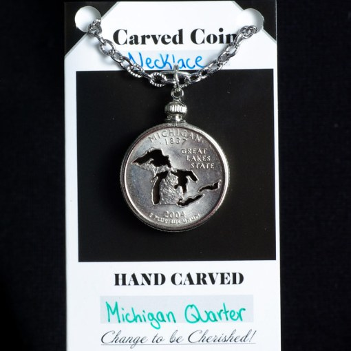 Great Lakes Quarter Necklace