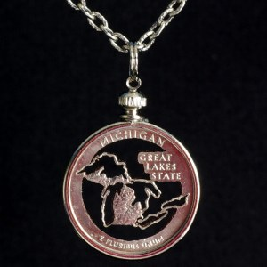 Michigan Quarter Necklace