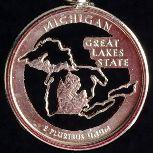 Michigan Quarter Necklace
