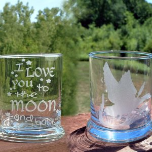 Engraved Stock Design Rocks Glass