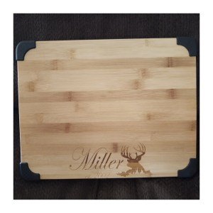 Bamboo Cutting Board Engraved Personalization