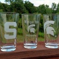 Engraved Spartan Pint Glass