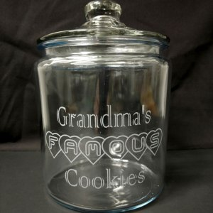 Engraved Personalized Cookie Jar
