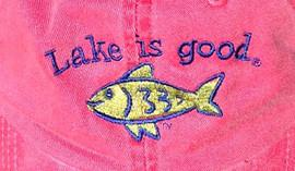 Lake Is Good Hat Red