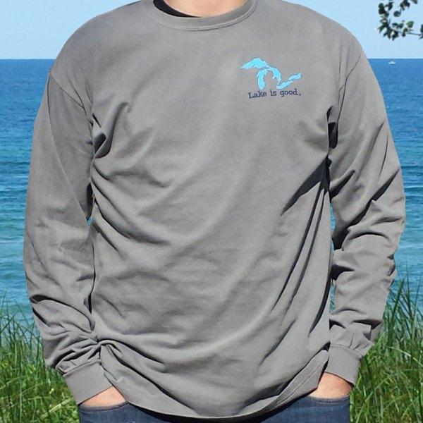 Mens Long Sleeve Lake Is Good Shirt
