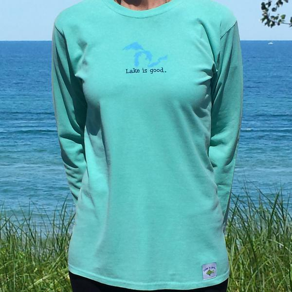 Ladies Long Sleeve Lake is Good Shirt