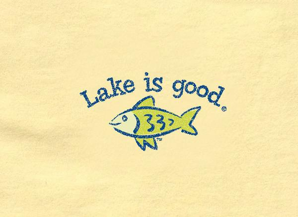 Lake Is Good T-Shirt Lemon with Fish