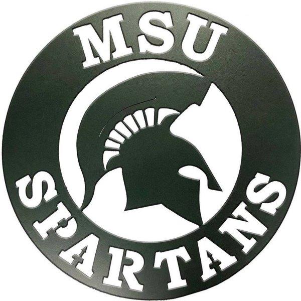 MSU Spartans Metal Sign