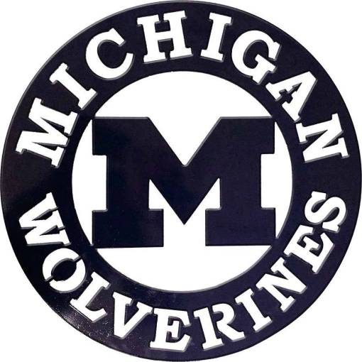 Michigan Wolverines Metal Sign