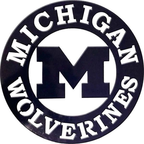 Michigan Wolverines Metal Sign