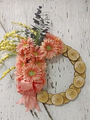 Wood Slice Melon-Coly Wreath