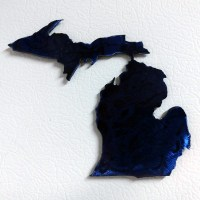 Metal Michigan Magnet