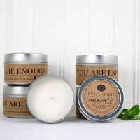 You Are Enough All Natural Soy Beeswax Candle Tin