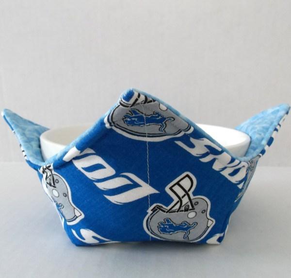 Detroit Lions Microwave Bowl Holder Cozy Hot Pad