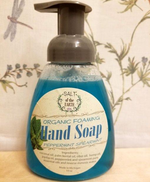 Peppermint Spearmint Organic Foaming Hand Soap Salt of the Earth