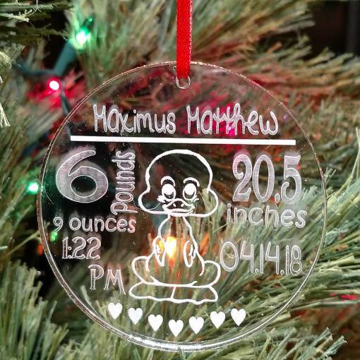 Personalized Birth Announcement Ornament