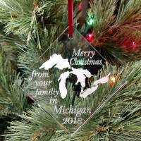 Personalized Great Lake Ornament