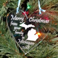 Personalized Michigan Ornament