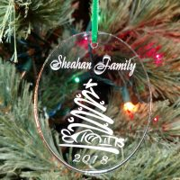 Personalized Whimsical Christmas Tree Ornament