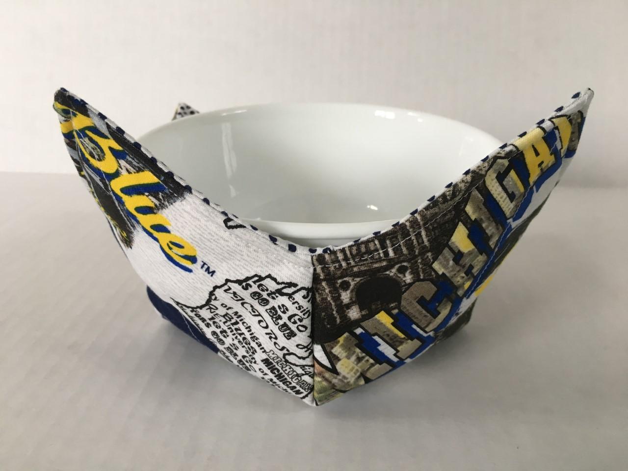 Bowl Holder Soup Bowl Cozy Microwavable Bowl Cozie Set Reversible Kitchen Accessory Bowl Cozy Set Mother/'s Day \u2013 Watercolor Banana
