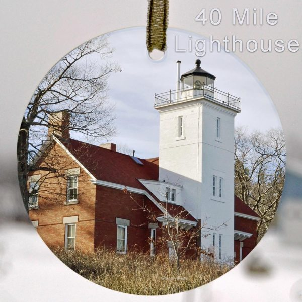 Glass Photo Suncatcher Ornament 40 Mile Lighthouse