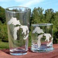 Michigan Great Lakes Glassware