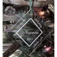 Personalized Family Ornament Custom Engraved 4 Names