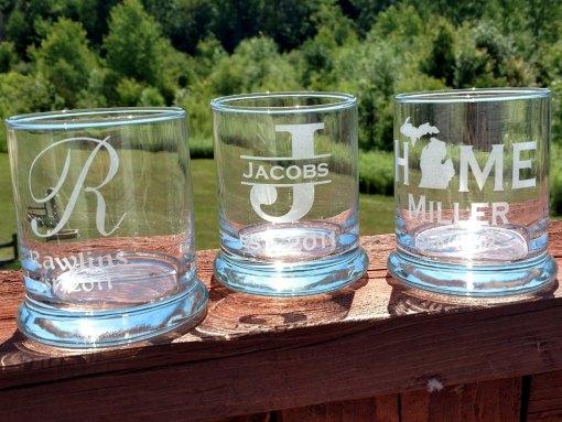 Personalized Rocks Glass