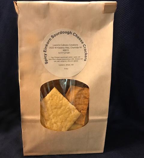 Spicy Eichorn Sourdough Cheese Crackers